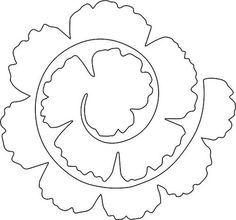 Rolled Flower Felt Flower Template Rolled Paper Flowers Felt