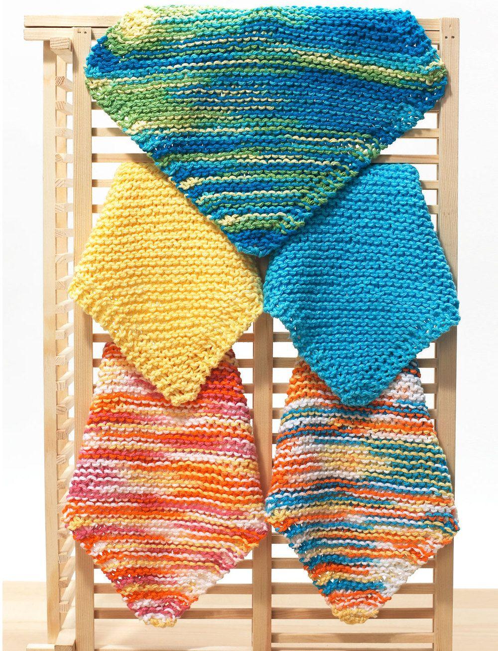 Easy Dishcloth Knitting Pattern   Pinterest   Paños