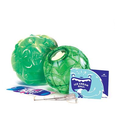 This Green 32-Oz. Ice Cream Ball & Cover Set is perfect! #zulilyfinds