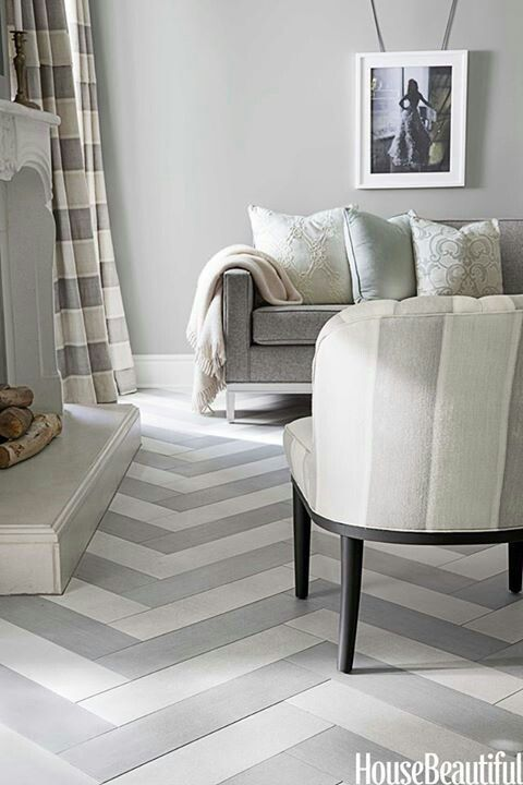 Luxury A California House With Soft Shades For Your House - Simple Elegant herringbone wall Idea