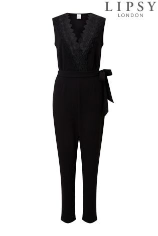 d0ddd028f4d Buy Lipsy Lace Insert Jumpsuit from the Next UK online shop