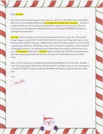 EzsantalettersCom  Santa Letter For Child Going Through A Hard
