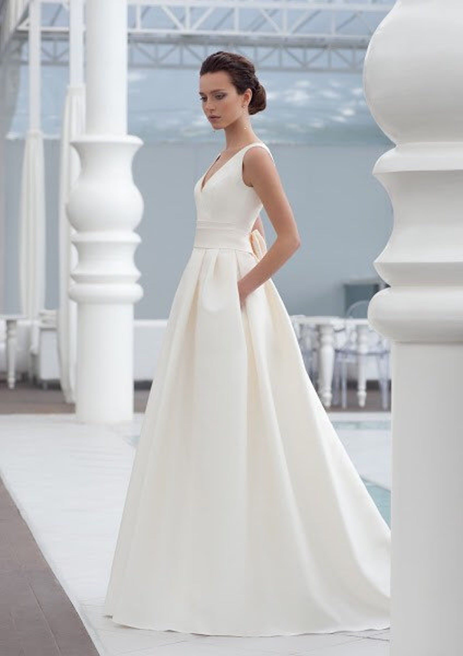 modern wedding dress simplee satin crepe modern wedding dress