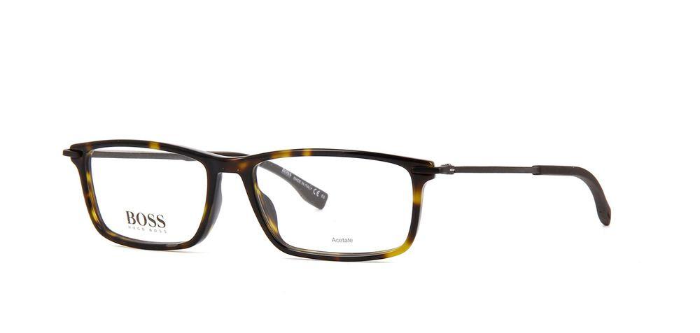 75f7cafe0c BOSS Hugo Boss 1017 086 Eyeglasses Dark Havana Carbon Frame 55mm ...
