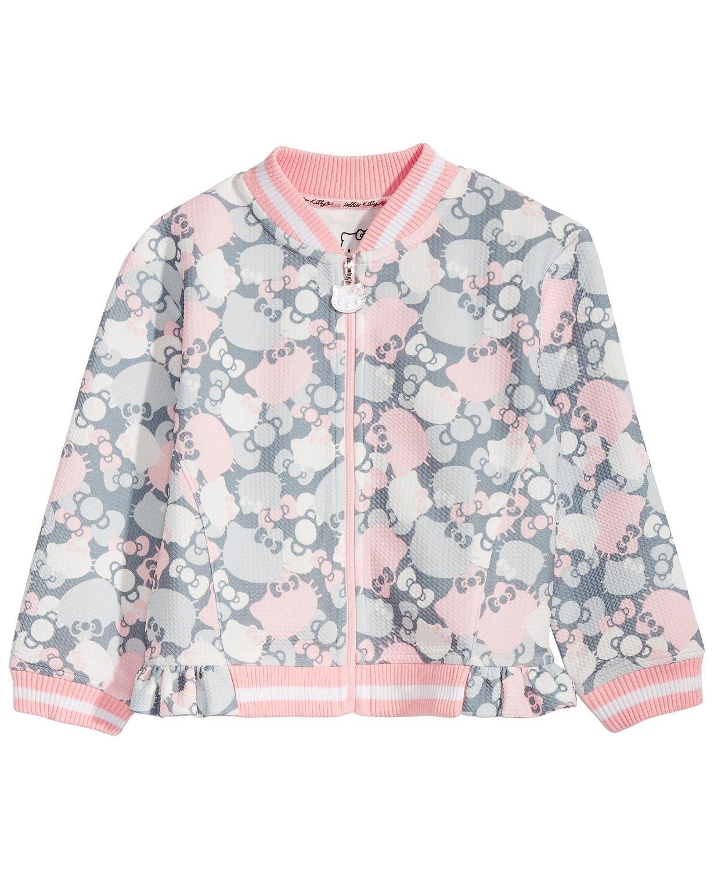 Hello Kitty Little Girls Bomber Jacket Coats Jackets Kids Macy S Girls Bomber Jacket Kids Jacket Bomber Jacket [ 1500 x 1230 Pixel ]