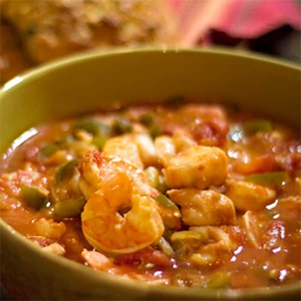 Seafood Stew with Shrimp and Cod
