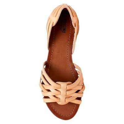 a020aabdd7ef Women s Gena Wide Width Strappy Flat Huarache Sandals Mossimo Supply Co. -  Natural 9.5W