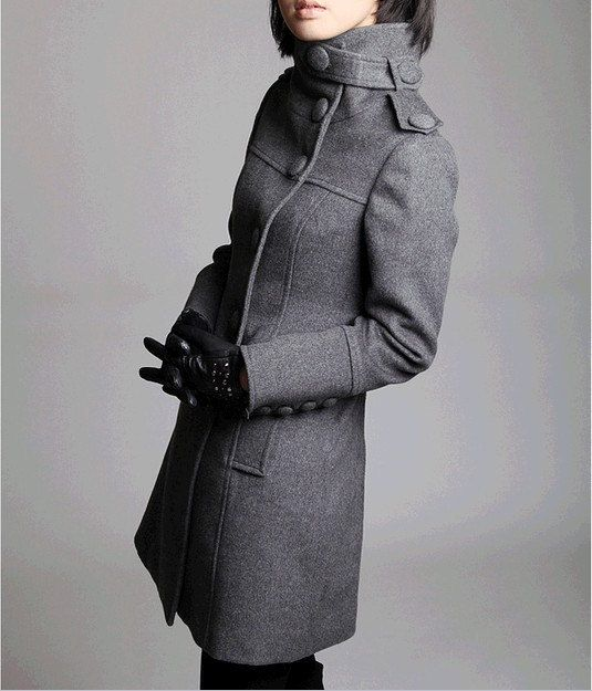 17 Best images about Winter Gray | Wool, Grey and Coats & jackets