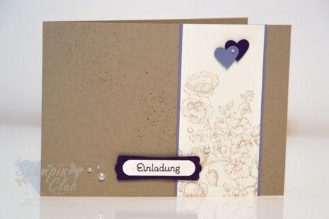 Stampin Up Einladung Invitation Hochzeit Wedding Elements Of Style Allerlei  Grüße Modernes Lable Stanze Kleines Herz