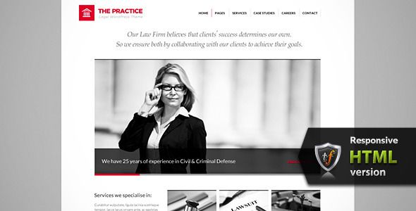 The Practice - Lawyer, Legal Offices HTML Theme | Weekly Themes ...