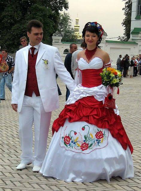 Ukrainian Wedding Kleid Hochzeit Traditionelle Kleider Russische Hochzeit