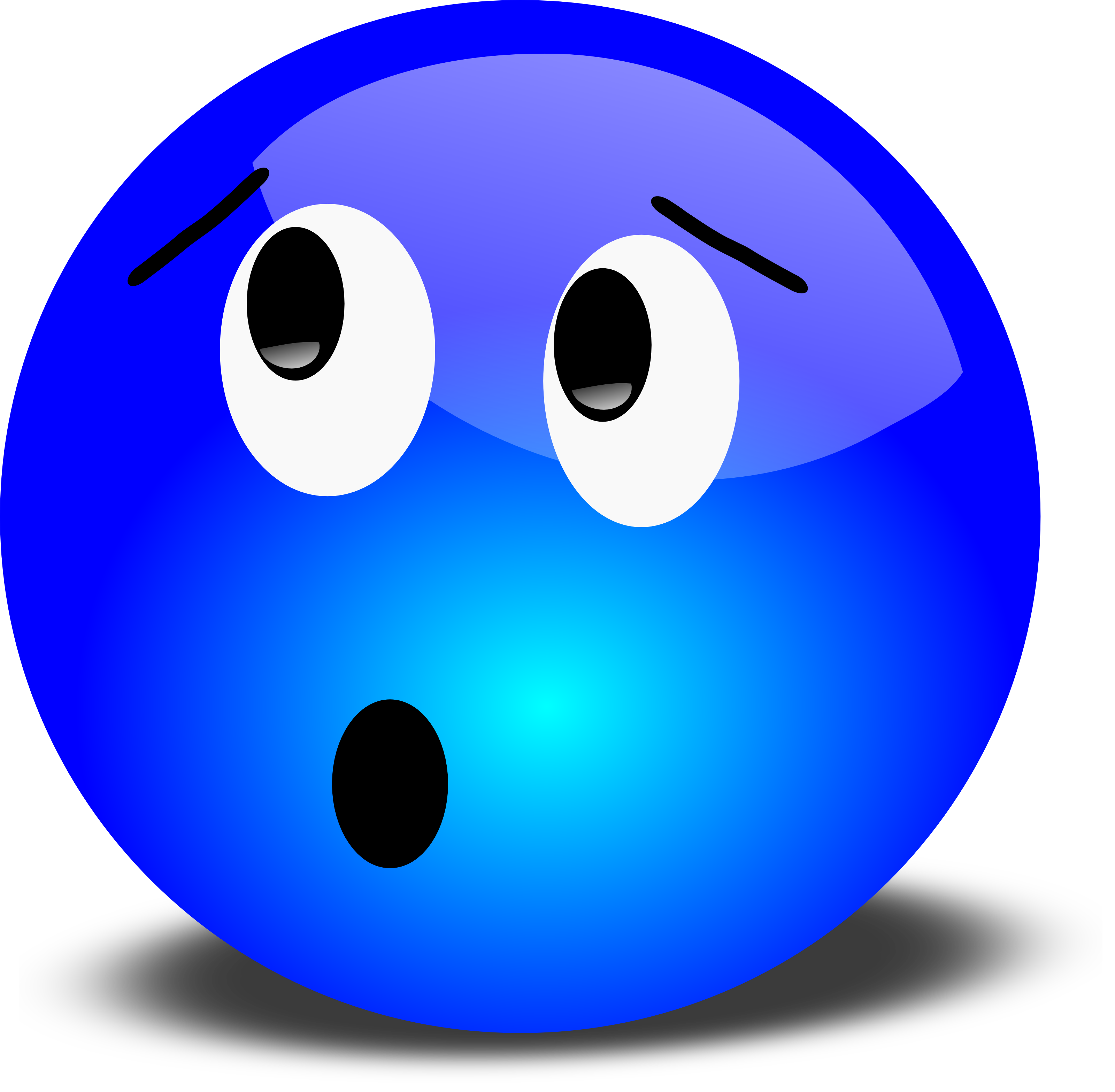 Worried Face Clip Art Free 3D Worried Smiley Face