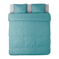 IKEA - GÄSPA, Dekbedovertrek met 2 slopen, 240x220/60x70 cm, , Beddengoed van satijngeweven katoen is erg zacht en biedt een aangenaam slaapcomfort. Door de uitgesproken glans ziet het er prachtig uit op je bed.Het gekamde katoen maakt het beddengoed extra zacht en glad, en dat voelt lekker aan tegen de huid.Door de blinde drukknopen blijft het dekbed op zijn plaats.