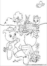 18 Printable 3 Little Pigs Colouring Pictures Colouring