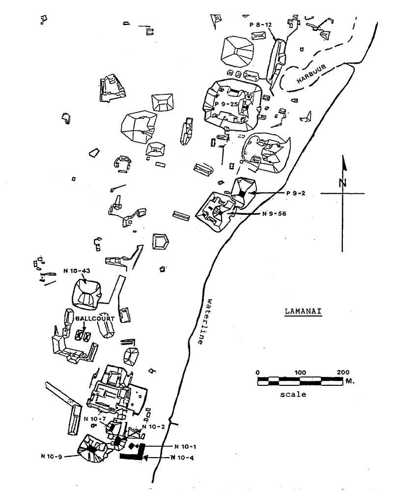 Lamanai Ruins Map