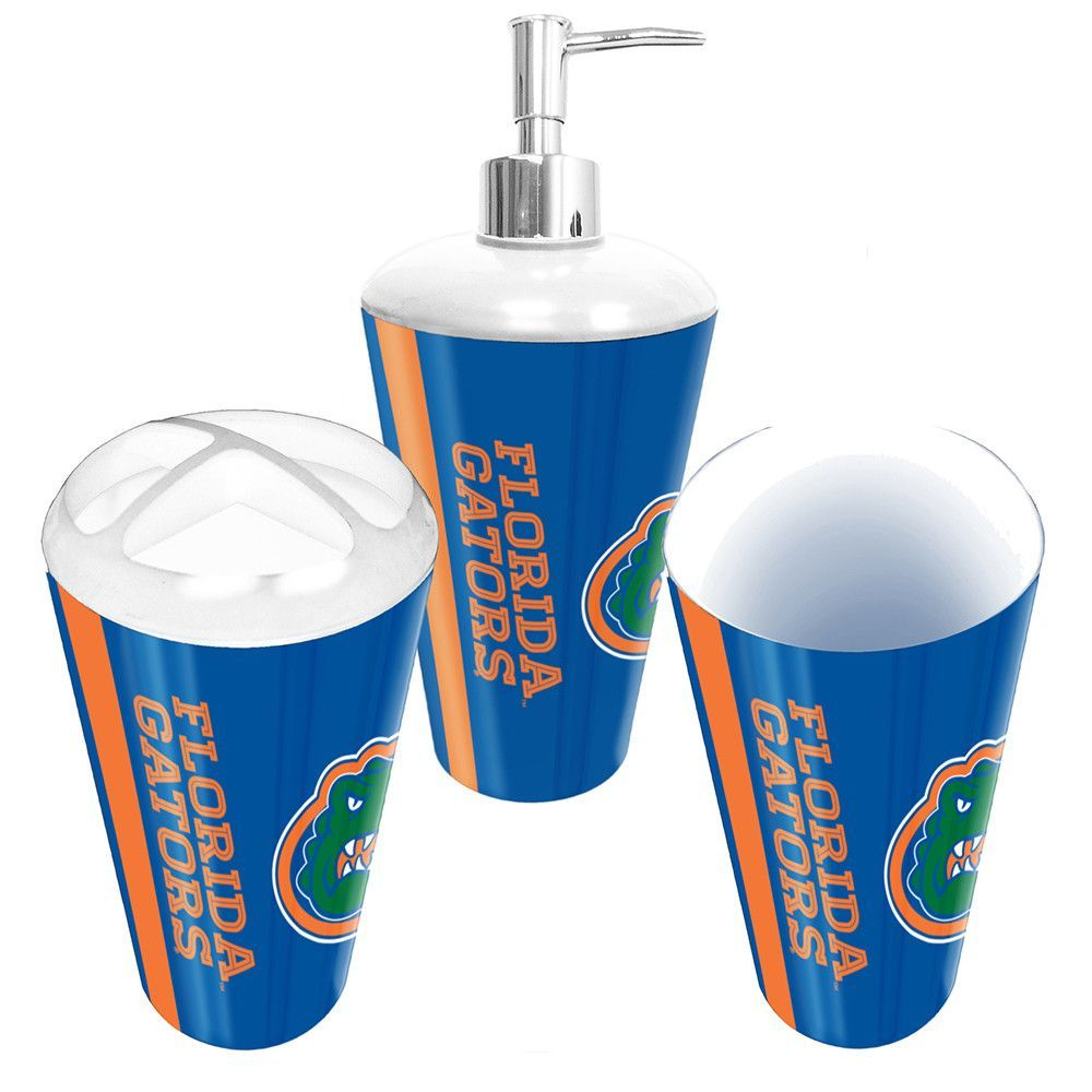 Florida Gators Ncaa Bath Tumbler Toothbrush Holder Soap Pump 3pc Set