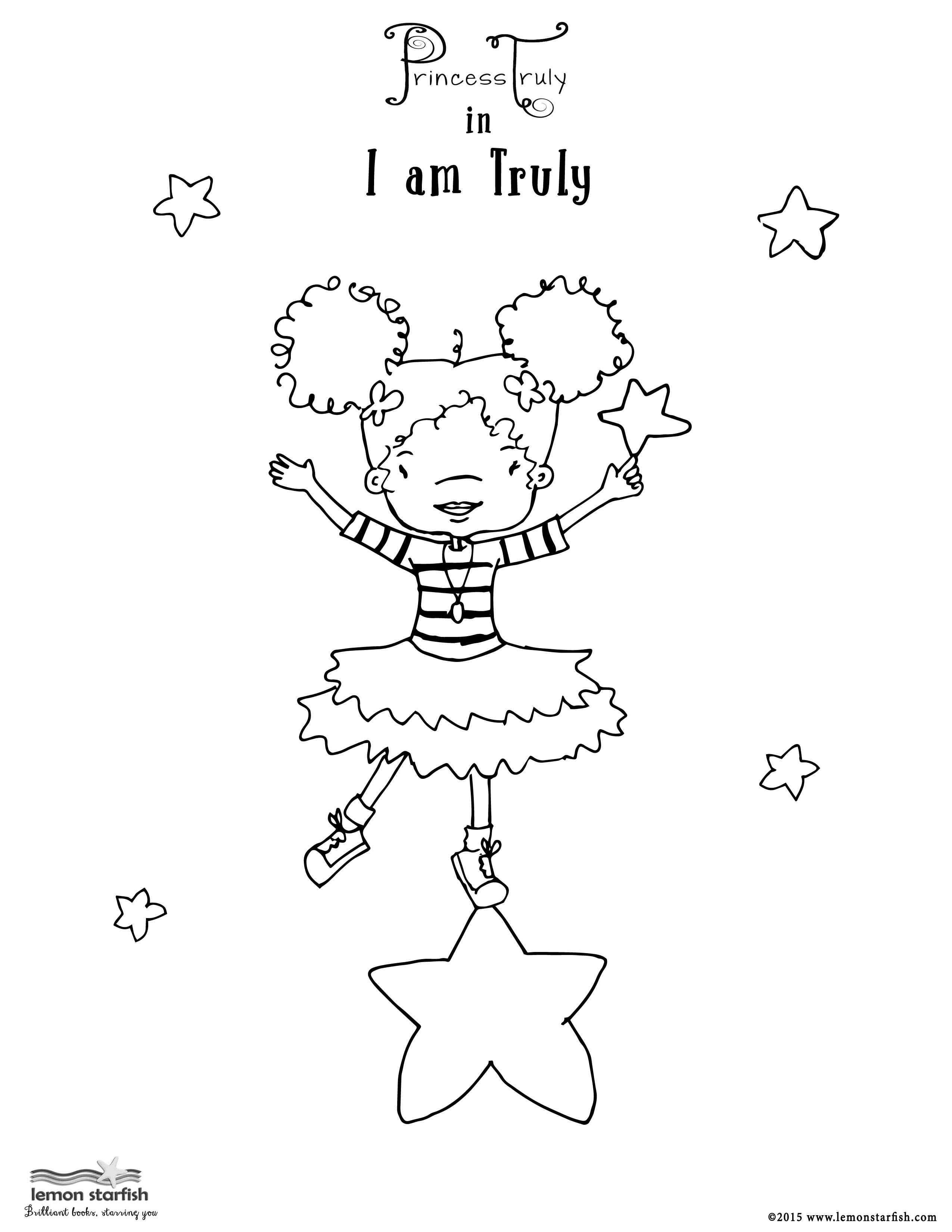 She Can Fly To The Moon And Dance On The Stars Coloring Page
