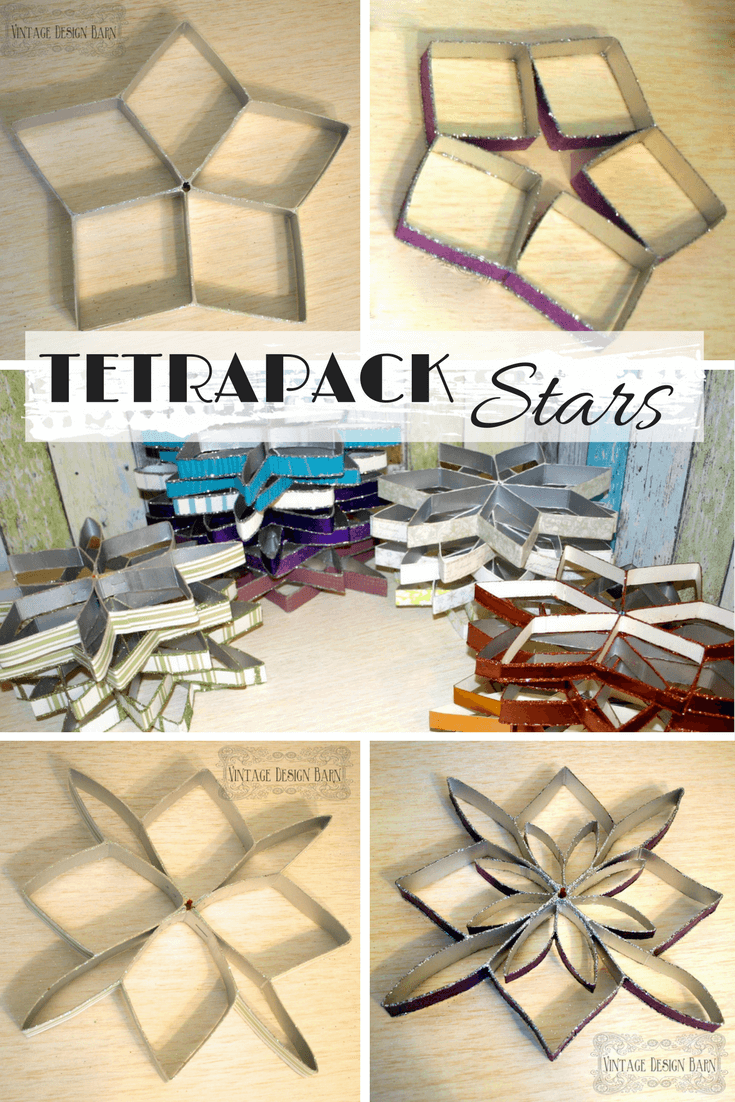 Bastelpapier Vintage by upcycling square silver tetrapacks and wallpaper rests you can