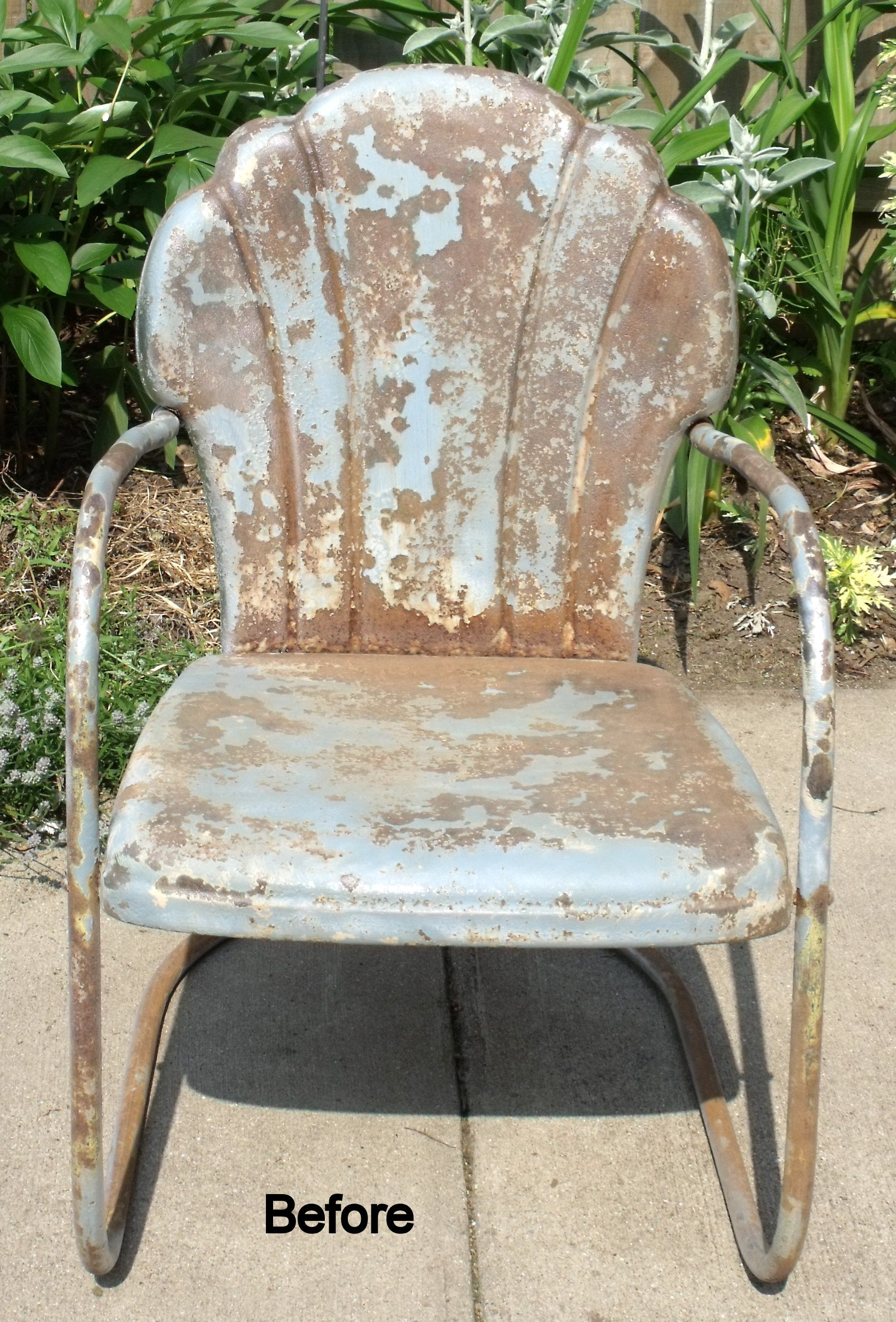 Metal Lawn Chair Makeover Oasis Accents Paint' Stain