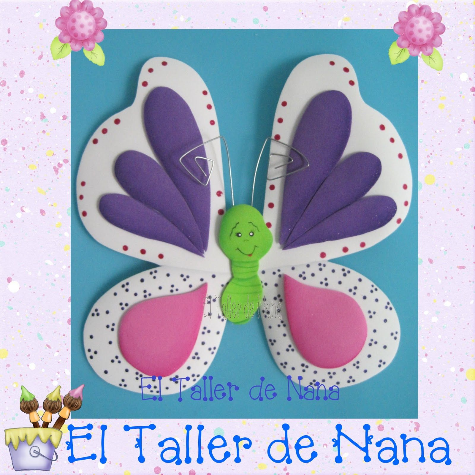 Mariposa en foamy foami pinterest foam crafts - Como hacer mariposas de goma eva ...