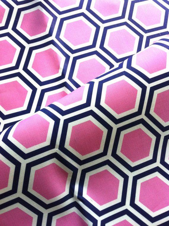 Tatum In Candy Original Hexagon Vintage Inspired Home Decor Fabric