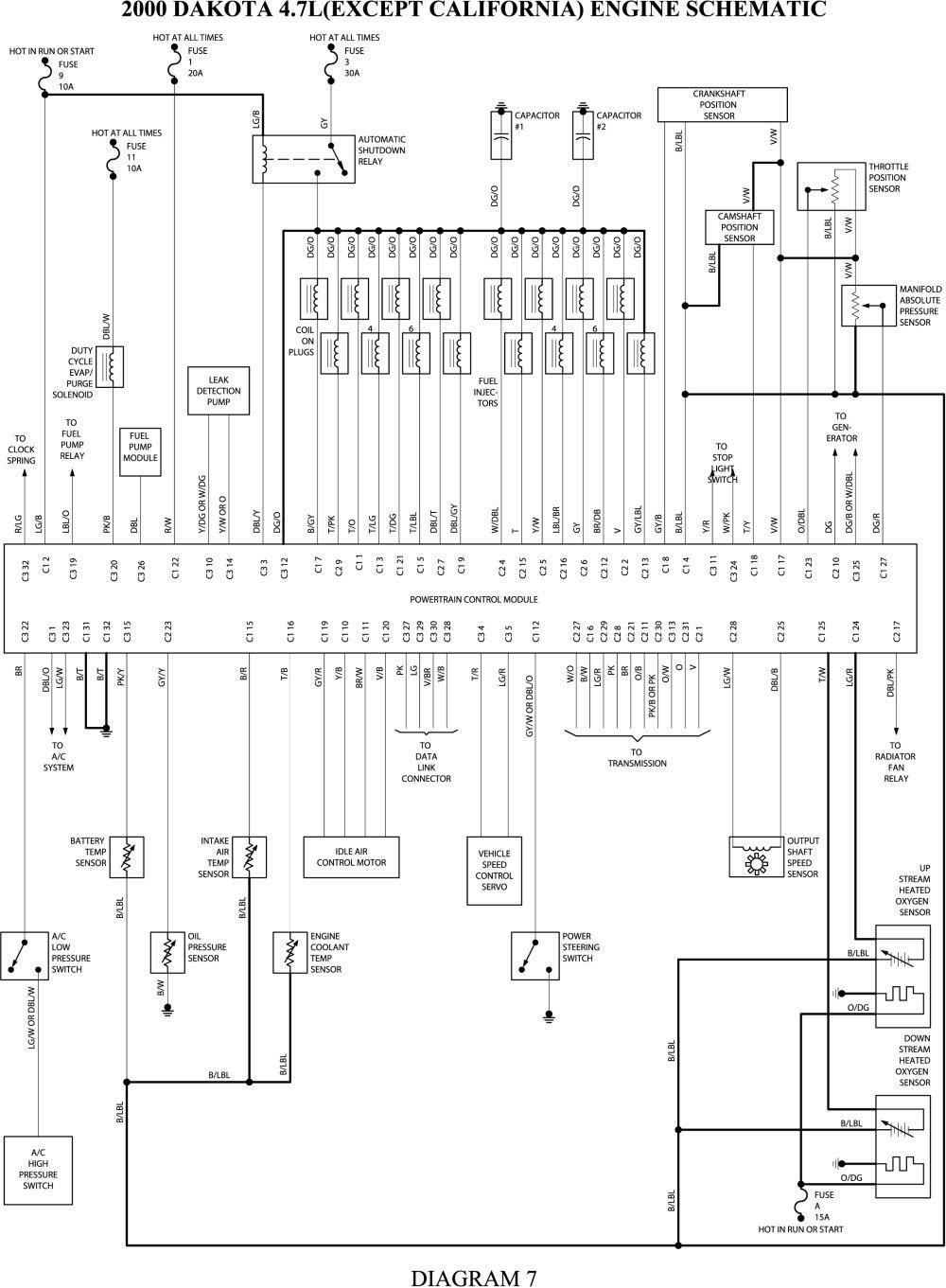 2007 Dodge Wiring Trailer Wiring Diagram Repair Guide Dodge Durango
