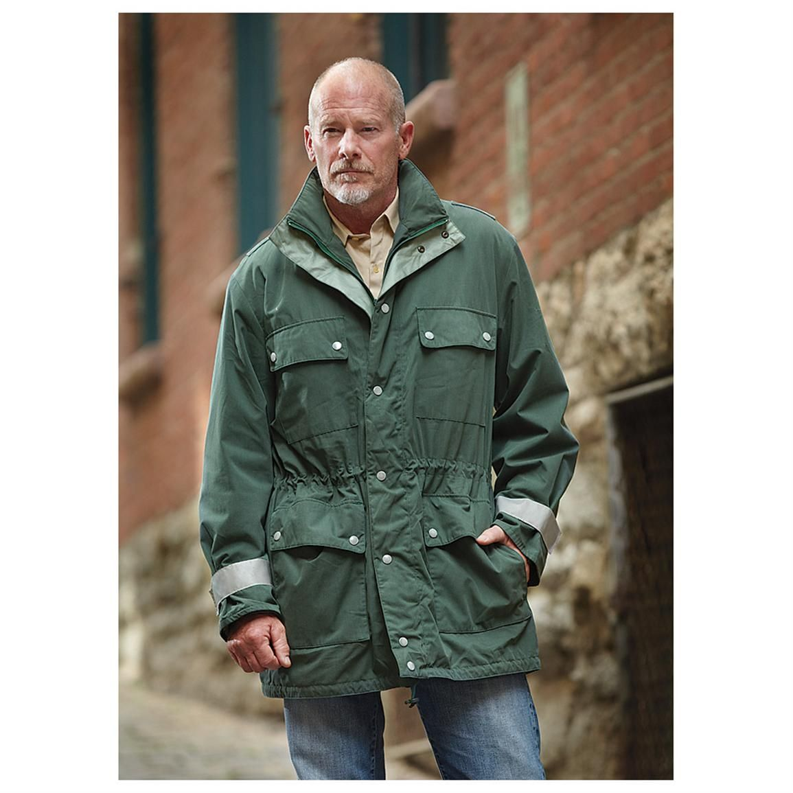 2bb46971a8823 German Police Men's GORE-TEX Winter Parka with Liner, Waterproof, Olive Drab