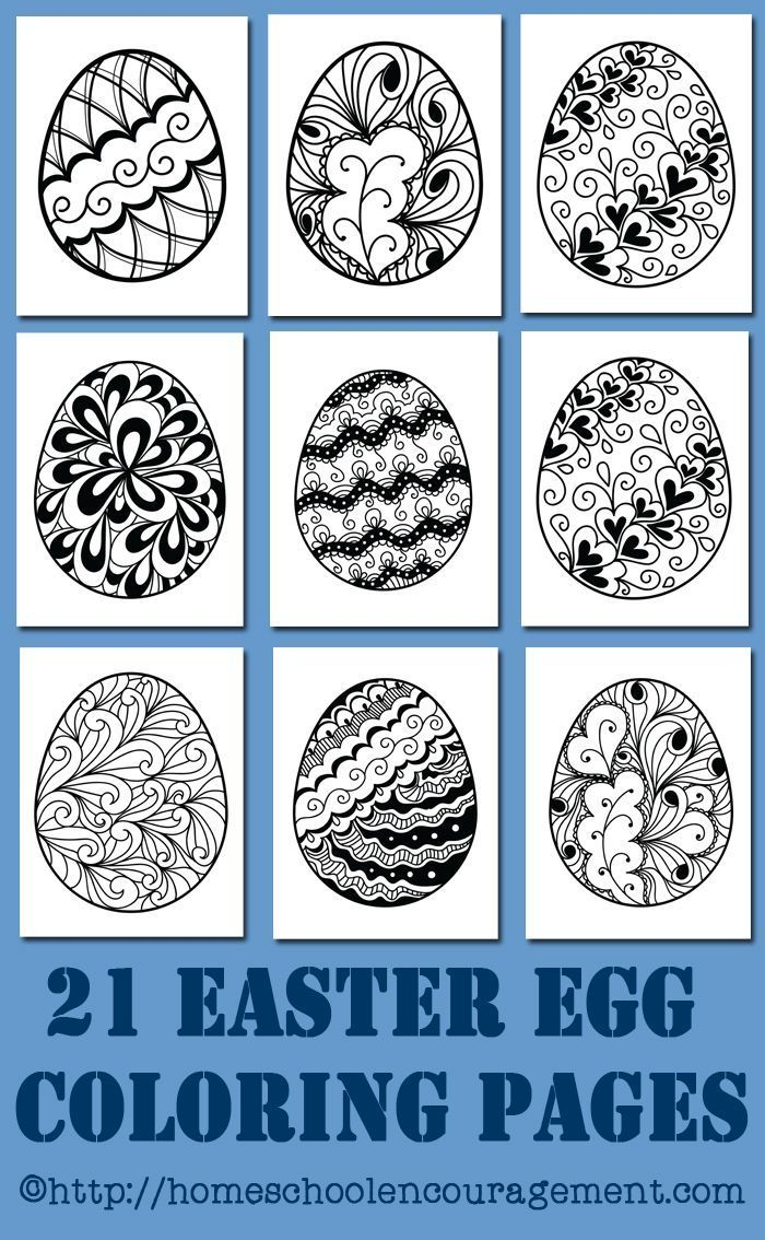 Free Printables: 21 Easter Egg Coloring Pages | Pinterest | Egg ...