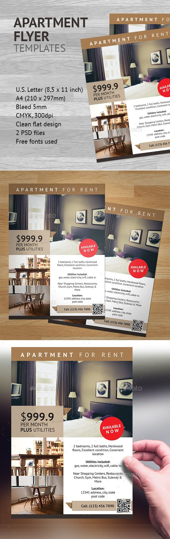 charmant Apartment Flyer Template 1