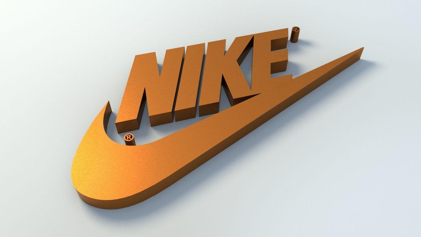 sutil lavanda entusiasta  Nike Logo 3D Model | Nike logo, Nike wallpaper, Nike