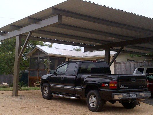 Off-set cantilever carport built to last! & Off-set cantilever carport built to last! | Michigan | Pinterest ...