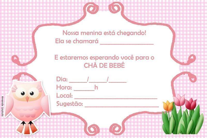 Populares Convite para Chá de Bebê Virtual – Convite Chá de Fraldas Online  FU56