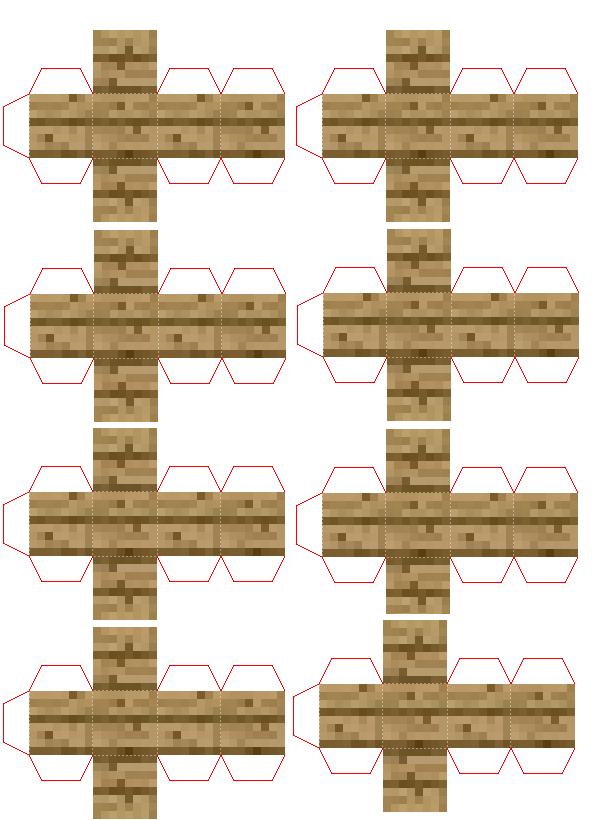 Papercraft A Lot Of Mini Wood Minecraft Printables Minecraft Templates Minecraft Blocks