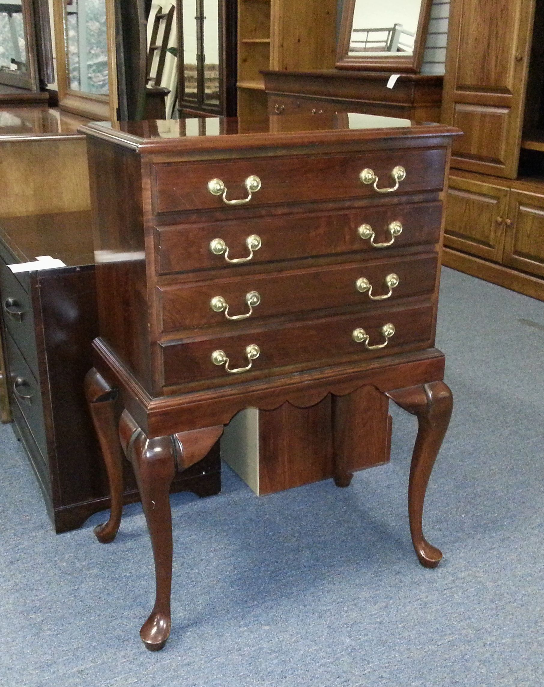 Item # 26987-5 Cherry Stained Silverware Chest w/ 4 ...