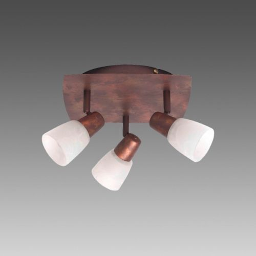 Ceiling Spot Light Copper Antique Design Lamp 3 Flames Flush Lighting New 31059 Flush Lighting Ceiling Lights Lamp Design