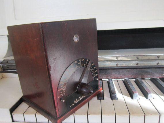 Vintage Electric Mentronome Wood Case Metronoma by Bingville