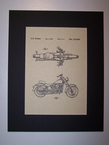 Harley MC 1993 sheet 3 Patent Drawing Motorcycle Harley Davidson