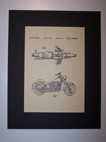 Harley MC 1993 sheet 3 Patent Drawing Motorcycle Harley Davidson