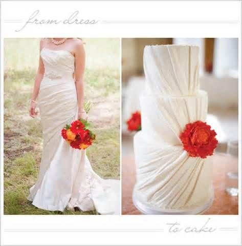 Wedding Fashion To Dress Inspired Cake