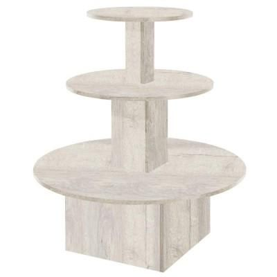 Présentoir 3 niveaux Flexia chêne blanchi L.102 x P.102 x H.117cm ... f31aafc81aa