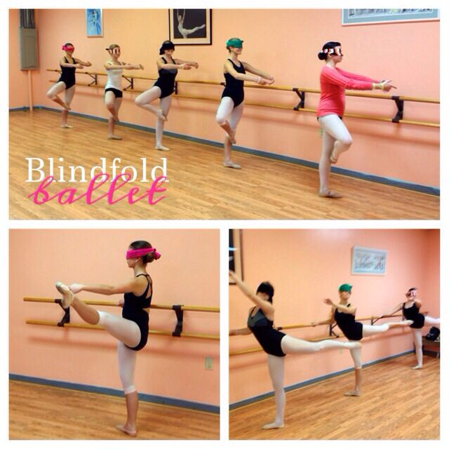 Tonight we taught a Blindfold #Ballet class! We wanted the #dancers to FEEL their placement & their corrections! www.balletshoesandbobbypins.com