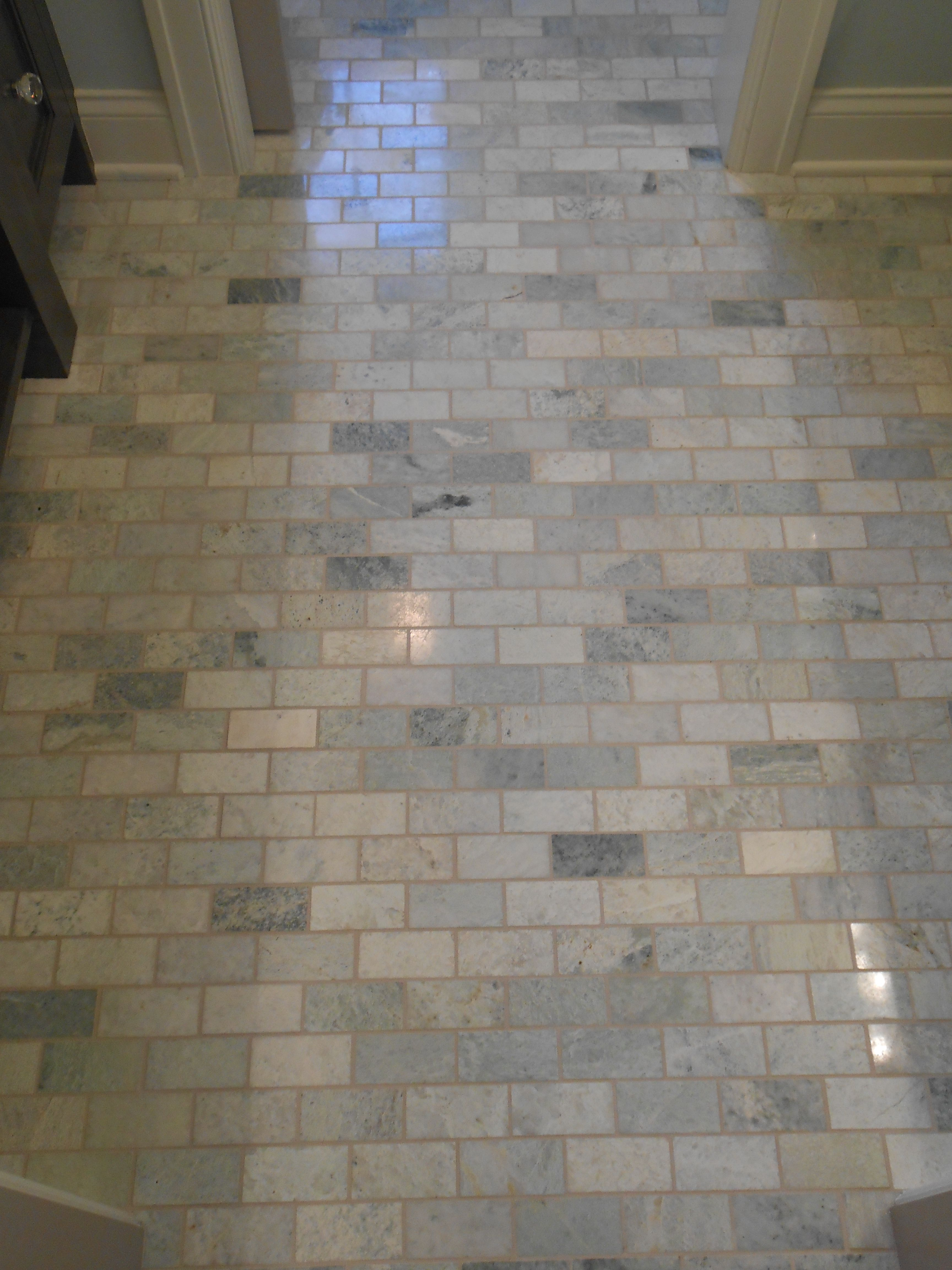 3x6 brick set tile on the floor beautiful bathrooms pinterest 3x6 brick set tile on the floor dailygadgetfo Images