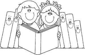 El Rincon De La Biblioteca Dibujos Para Decorar Biblioteca Para