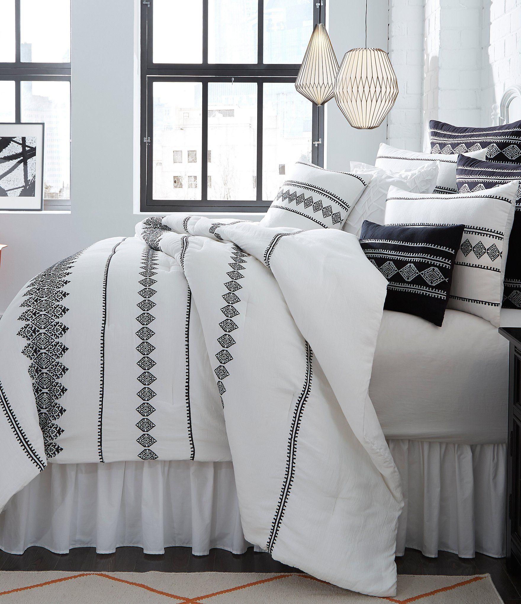 Shop for Studio D Tevin Tribal Embroidered Comforter Mini Set at