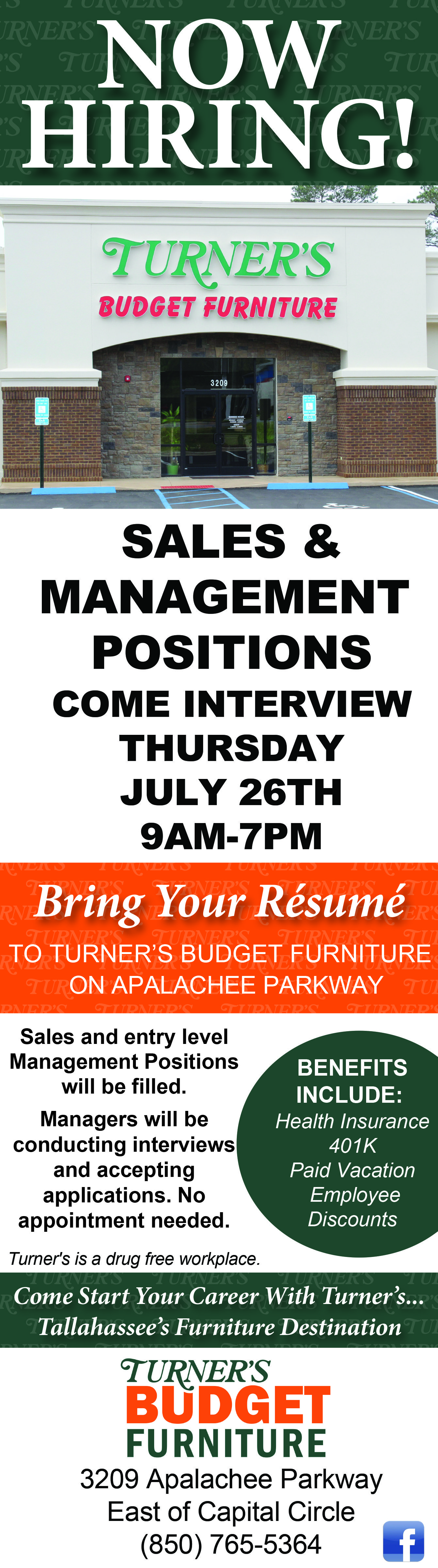 Careers Turner S Budget Furniture