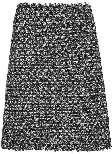 Giambattista Valli - Sequin-embellished Frayed Tweed Mini Skirt - Black