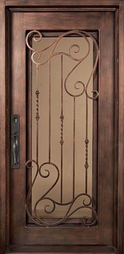 40x98 Affinity Iron Door Beautiful Wrought Iron Front Entry Door