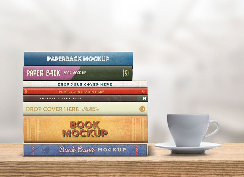 Free Various Width Paperback Book Spines Mockup Freebies Fribly Book Cover Mockup Book Spine Free Graphic Design