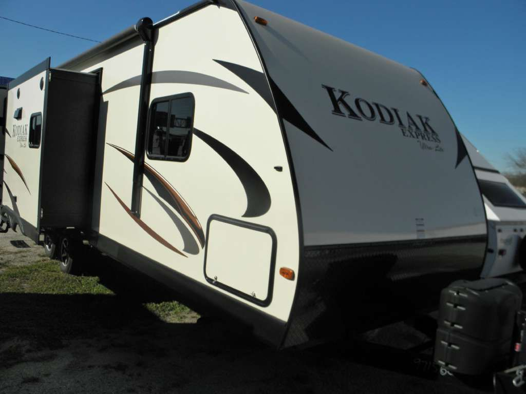 Specifications For The 2016 Kodiak Express 253rbsl The Express Model Series Features The Same Aluminum Frame Travel Sales Travel Trailer Recreational Vehicles