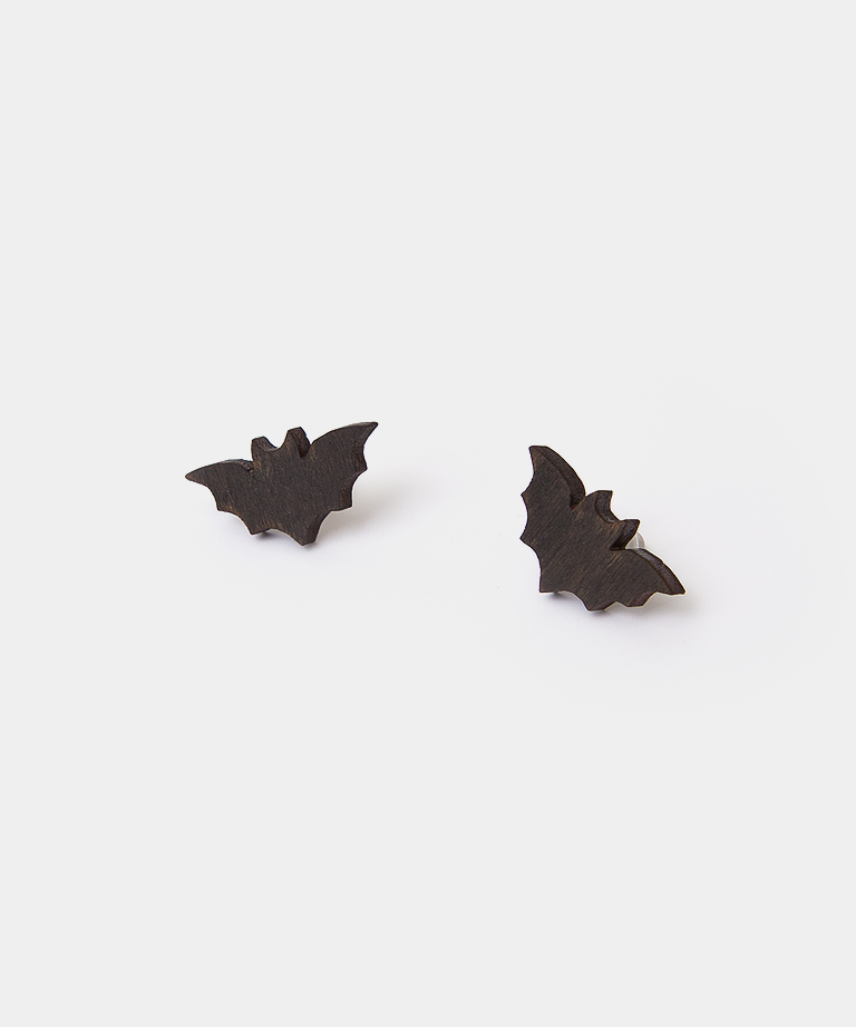 6ac70cd12 Itsy Bitsy Bat stud earrings, halloween, earrings, accessory ...